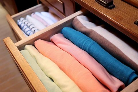 衣類にワンプッシュ